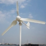 Small horizontal wind turbine rated power 300w max power 330w