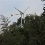 Horizontal wind turbine rated power 1000w max power 1500w